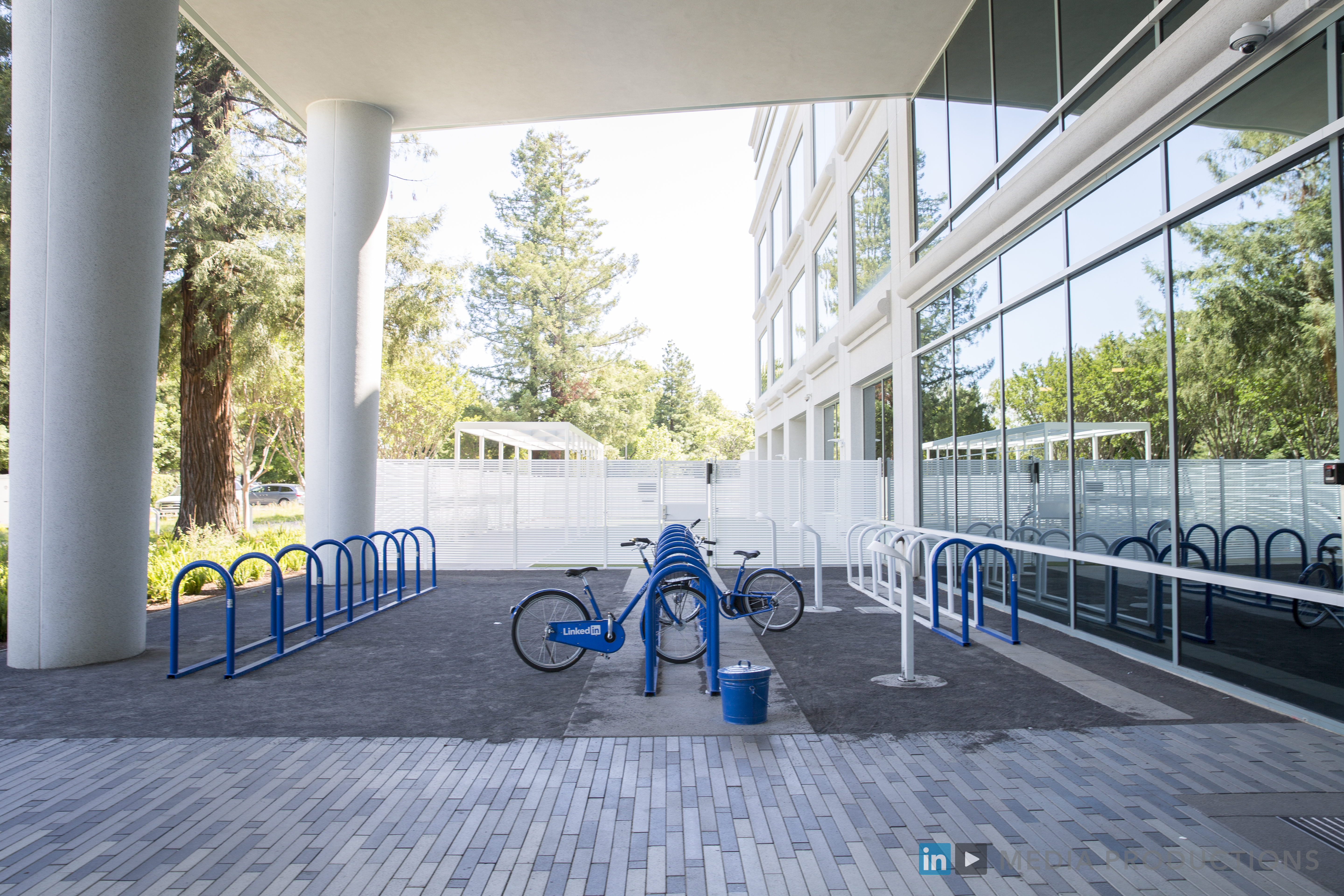 LinkedIn bike parking