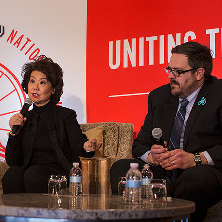 Elaine Chao and Bill Nesper
