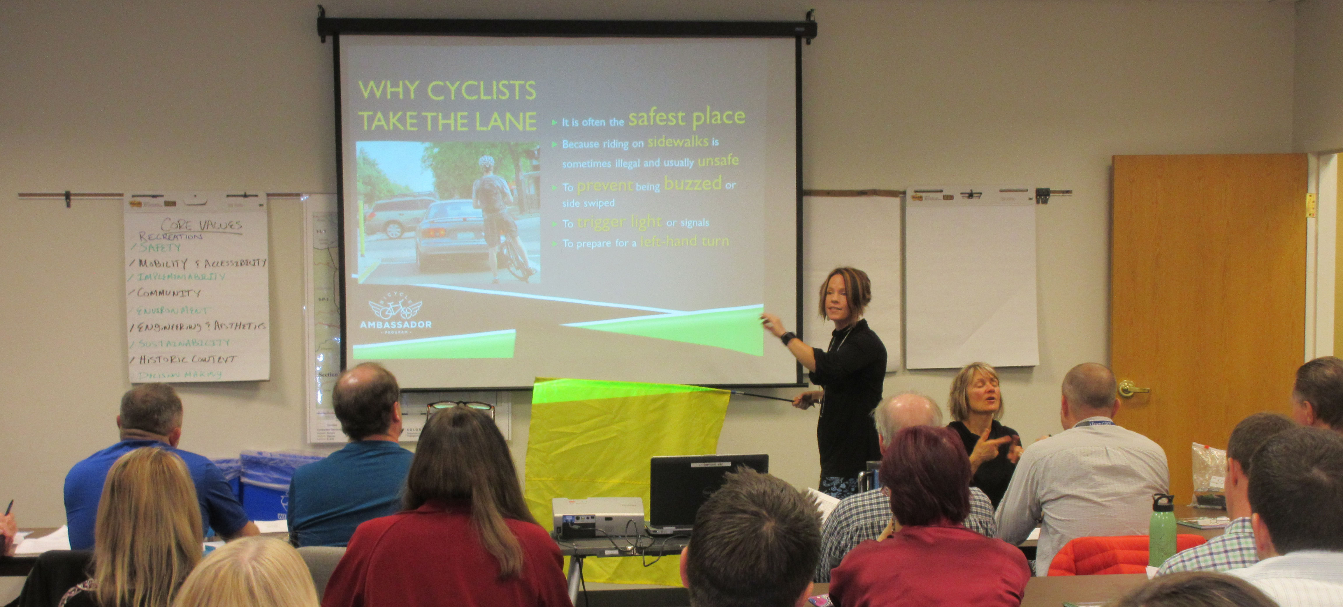 Jamie Gaskill-Fox leads Bicycle Friendly Driver training